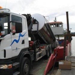 Lastning av lastbil