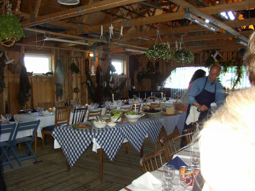 Example of table setting in the boathouse