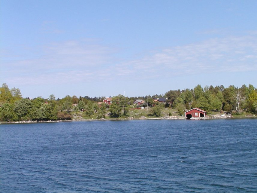 View of Smågö from the sea